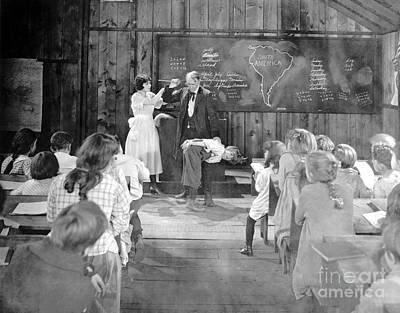 Photograph - Silent Film Still: School by Granger