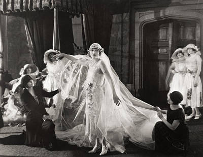 Wedding Gown Photograph - Silent Film Still:wedding by Granger