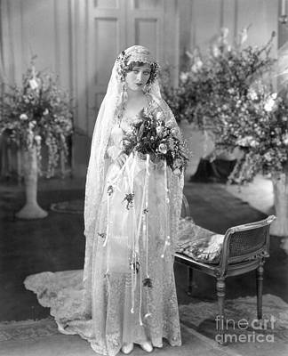 Photograph - Silent Film: Wedding by Granger