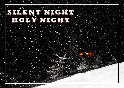 Photograph - Silent Night Card by John Haldane