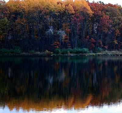 Photograph - Silent Reflections Of Fall by LeeAnn McLaneGoetz McLaneGoetzStudioLLCcom