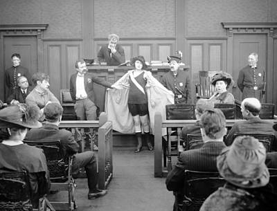 Photograph - Silent Still: Courtroom by Granger