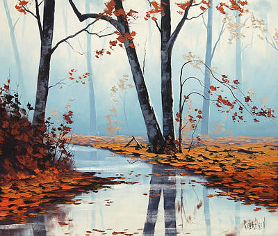 Red Maple Trees Painting - Silent Woods by Graham Gercken