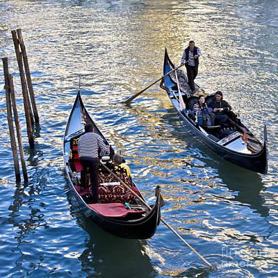 Silently Drifting Gondolas Art Print