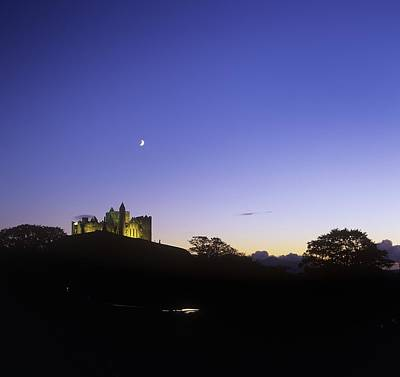 Silhouette Of A Castle On The Cliff Of Art Print
