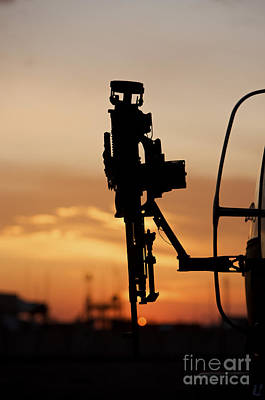 Silhouette Of A M240g Medium Machine Print by Terry Moore