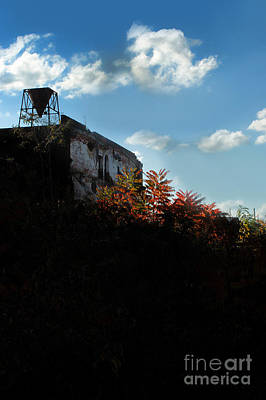 Silhouette Of An Old Mill At Sunset Art Print by HD Connelly