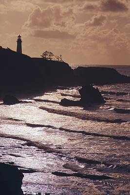 Silhouette Of Lighthouse Art Print by Craig Tuttle