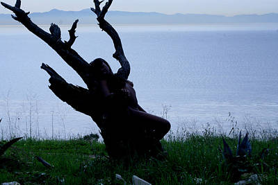 Naturist Art Photograph - Silhouette Over Catalina by Michael Beals
