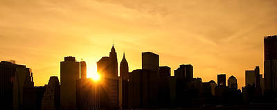 Silhouetted Manhattan  Original