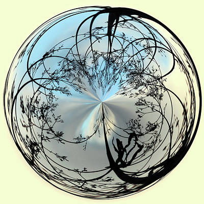 Silhoutte Orb Art Print