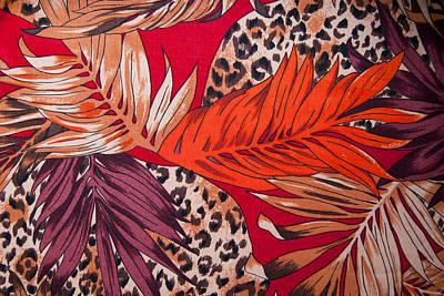 Silk Scarf Autumnal Motifs Original