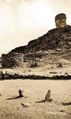 35mm Photograph - Sillustani Funerary Ruins by Darcy Michaelchuk