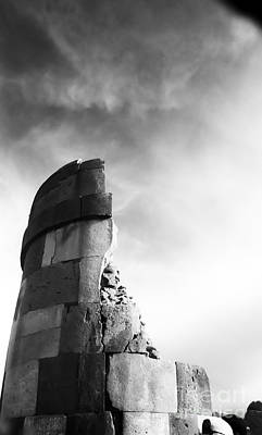 35mm Photograph - Sillustani Funerary Tower by Darcy Michaelchuk