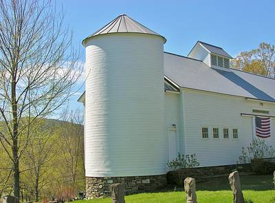 Art Print featuring the photograph Vermont Silo And Barn  by Sherman Perry