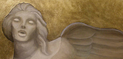 Silver Angel Art Print by Mark  Bonner