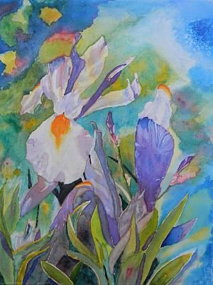 Wip Painting - Silver Beauty Iris 2 Wip by Warren Thompson