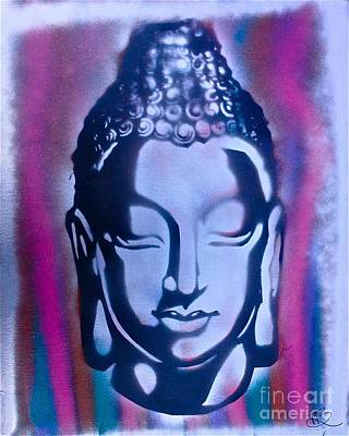 Moral Painting - Silver Buddha by Tony B Conscious