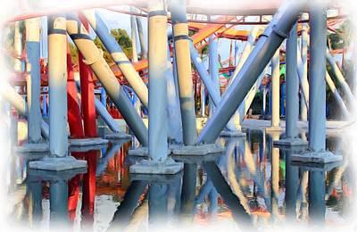 Roller Coaster Photograph - Silver Bullet Over Reflection Lake by Heidi Smith