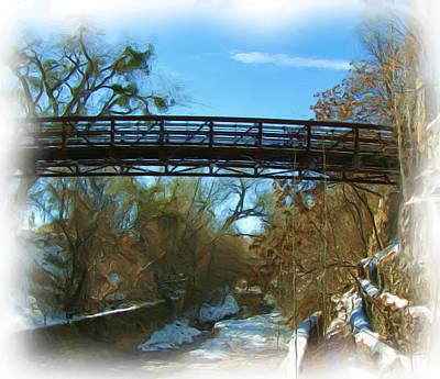 Silver City Big Ditch In Winter Art Print by FeVa  Fotos