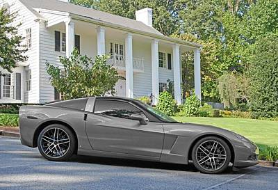 Photograph - Silver Corvette C6 by John Black