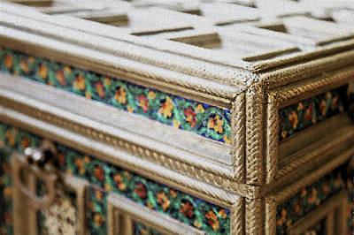 Silver Engraved Box Print by Kantilal Patel