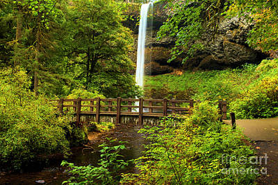 Photograph - Silver Falls Bridge by Adam Jewell