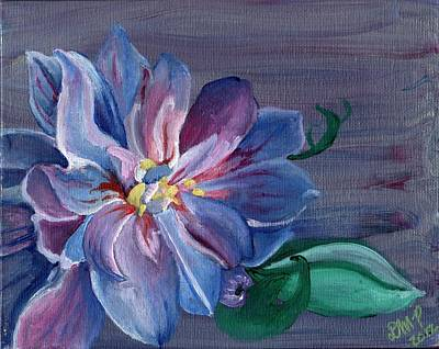 Diane Peters Painting - Silver Flower by Diane Peters