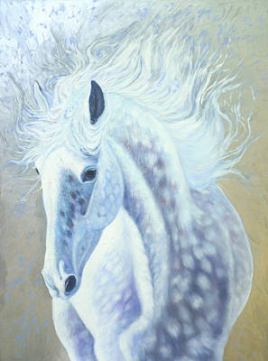 Horse Painting - Silver Mare by Gill Bustamante