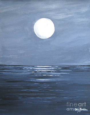 Silver Moon Art Print by Stacey Zimmerman