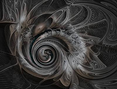 Fractal Geometry Digital Art - Silver Spiral by Amanda Moore