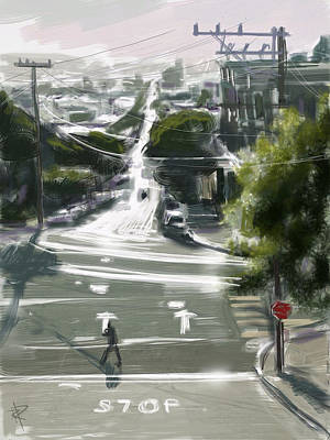 Person Mixed Media - Silver Streets by Russell Pierce