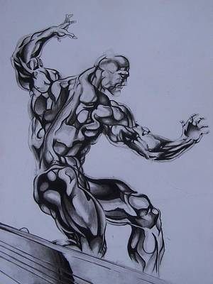 Drawing - Silver Surfer by Luis Carlos A