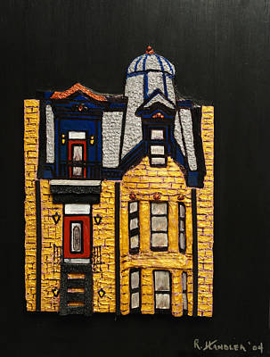 Painting - Silver Victorian Mansion-montreal by Robert Handler