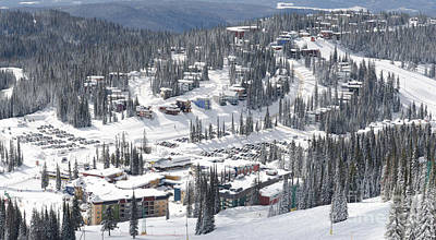 Winter Photograph - Silverstar Village From Above Silver Star Ski Resort Vernon Bc by Andy Smy