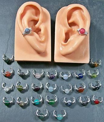 Ear Cuff Jewelry - Simple Gemstone Ear Cuff by Heather Jordan