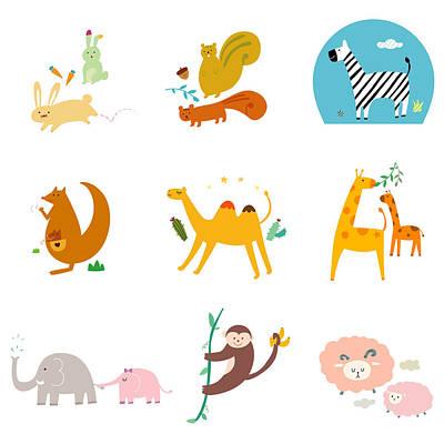 Kangaroo Digital Art - Simple Life Icon by Eastnine Inc.