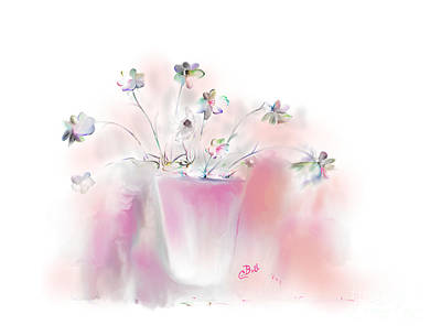 Painting - Simple Spring Flowers by Claire Bull