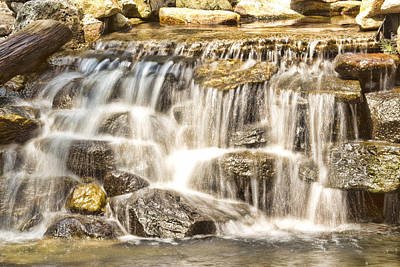 Simple Yet Powerful Waterfall Art Print by Daphne Sampson