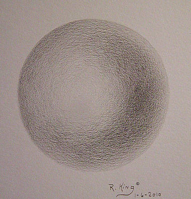 Art Print featuring the drawing Simply A Ball by Roena King