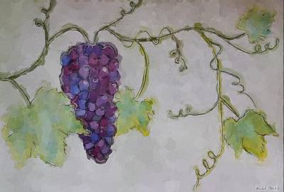 Simply Grape Art Print by Heidi Smith