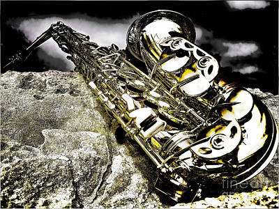 Art Print featuring the photograph Simply Sax by Jason Abando