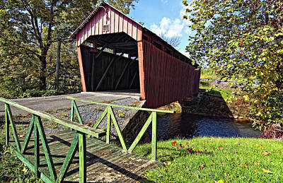 Covered Bridge Photograph - Simpson Creek Covered Bridge 2 by Steve Harrington