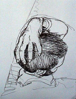 Nina Mirhabibi Drawing - Sina by Nina Mirhabibi