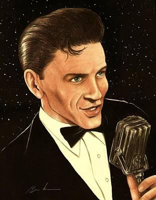 Frank Sinatra Drawing - Sinatra by Bruce Lennon