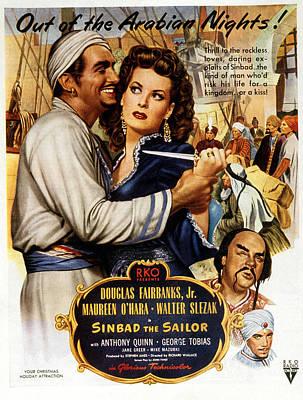 Postv Photograph - Sinbad The Sailor, Douglas Fairbanks by Everett