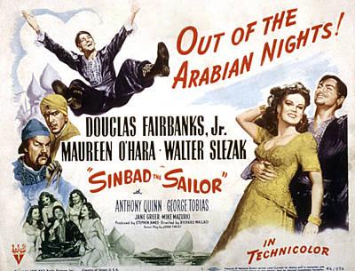 Sinbad The Sailor, Walter Slezak Art Print by Everett