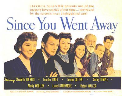 Go Away Photograph - Since You Went Away, Claudette Colbert by Everett