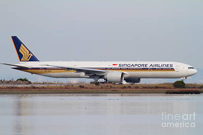 Singapore Airlines Jet Airplane At San Francisco International Airport Sfo . 7d12142 Art Print by Wingsdomain Art and Photography