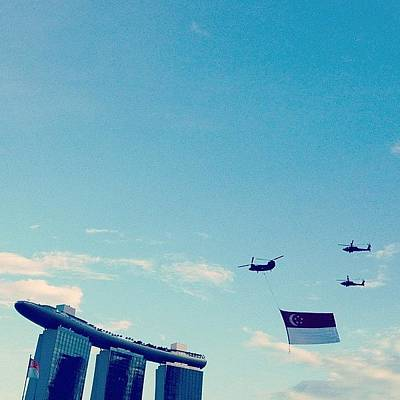 Helicopter Photograph - #singapore #sgig #sky #rsaf #airforce by Gabriel Kang